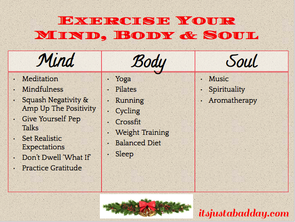 Exercise for the mind body and soul quote